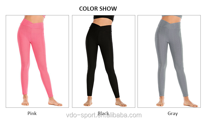 Women's High Waist Yoga Pants Tummy Control Scrunched Booty Leggings Workout Running Butt Lift Textured Tights Leggings