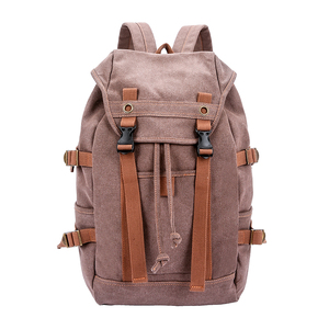 High standard man canvas duffle bag students laptop backpack unisex cheap travel backpack with competitive price