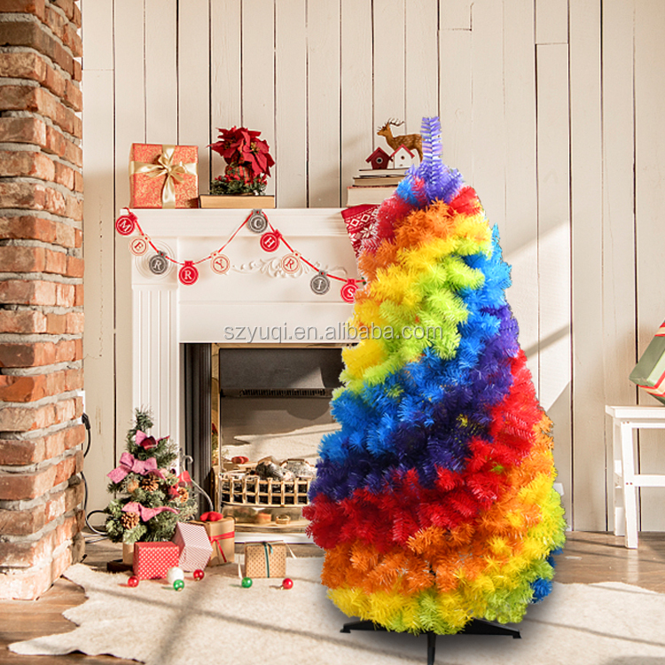 New years 2020 collapsible pop up 4 feet rainbow christmas tree image