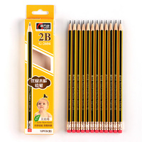 hexagon basswood wooden standard shorthand writing office school 2b pencil with logo