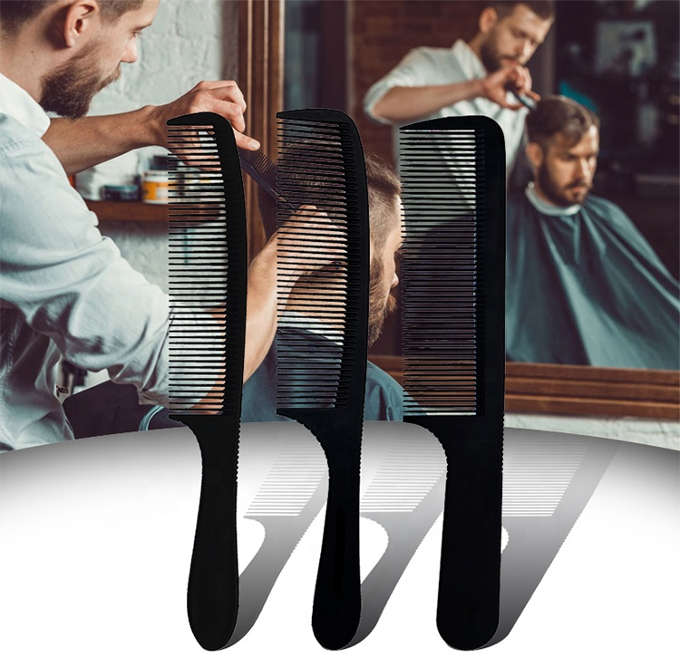 New design Beauty Bending <strong>Plastic</strong> Multicolor Park Barber Level Cutting <strong>Combs</strong> For Hairdressing