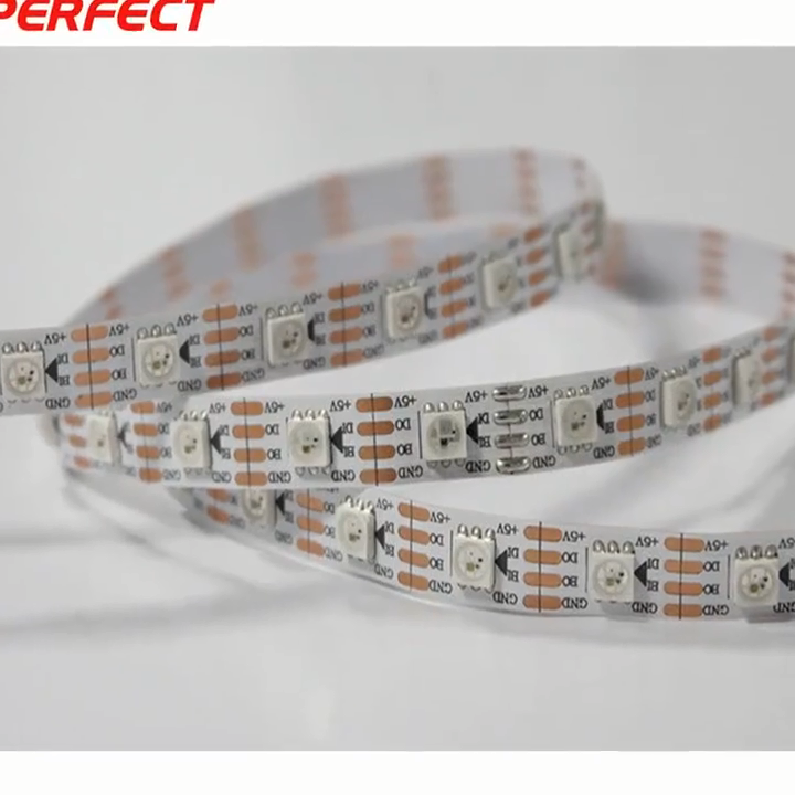 Al aire libre colgando ic digital SMD5050 tira de LED con impermeable IP68