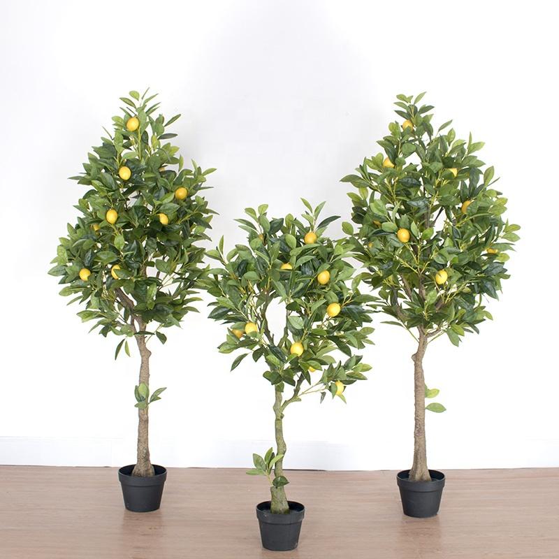 90% Simulation Fabrik Direkt verkauf Faux Topf kleine künstliche Zitronen pflanzen Baum für Dekor