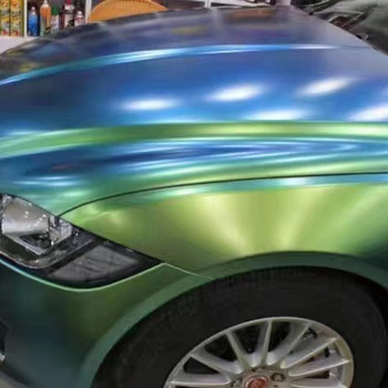 Self Adhesive Air Bubble Free matte chameleon magic chrome Car Wrapping Vinyl car sticker