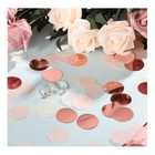 Rose gold party decorations 1 Inch Round Tissue Paper Table wedding confetti party supplies baby shower decoration