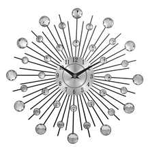 Dekorative Kristall Sunburst Metall Wanduhr Home Art Decor Durchmesser 13 zoll