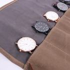 Watch Pouch Custom Durable Waterproof High Quality Waxed Canvas Travel Watch Roll Pouch