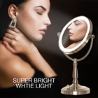 Face Make Mirror Let Mirrors Best Beauty Double - Sided Tabletop Face Make Up Lighted Led Makeup Mirror