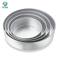 Size-customized Aluminium Baking Round Cake Pan/Mould for Microwave Oven - 6 Inches