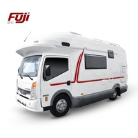 4500KG Japan Fuji ISUZU Chassis Self-C Caravan Motorhome with One-piece Body