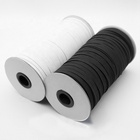 Factory Supply Custom 1/4 Inch Elastic 6mm 8mm 12mm Black/White Woven Band Ribbon Knitted Elastic Tape Wholesale