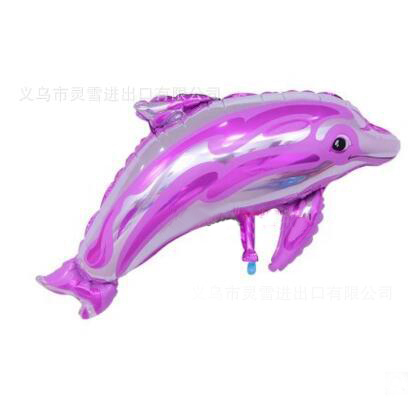 Wedding Birthday Party Decoration Sea Animal Shaped Ball Large Size Dolphin Aluminum Foil Balloon  Baby Shower Supplies