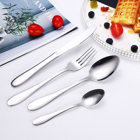 Personalized Mirror Polished Dishwasher Safe Silverware Flatware Cutlery Set of 4
