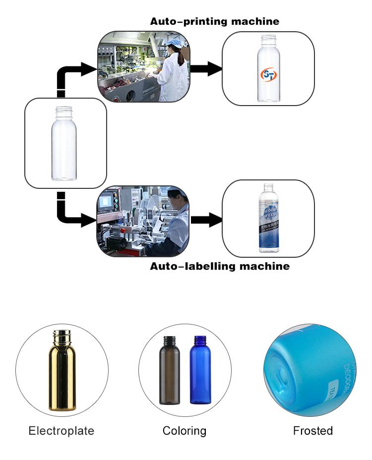 PET kunststoff klar 500ml lufterfrischer reinigung trigger nebel spray flasche für individuelles logo