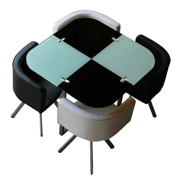 Modern Design Elegant Glass and Chrome Dining room set comedor room set