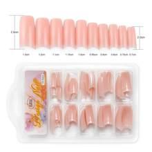 Искусственные накладные ногти для дизайна ногтей, 100 шт., клейкие накладные ногти, искусственный дизайн для наращивания ногтей, наклейки для...(Китай)