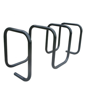 Custom made 4 loop surface mounted bike stand bicycle parking rack
