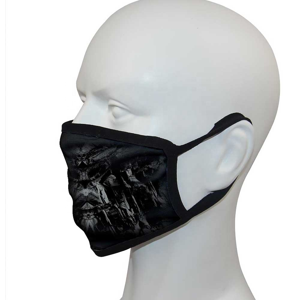 Custom logo printing Reusable Fabric cloth Facemask party mask for Halloween