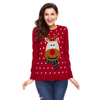 Women's Wear Sweater, Knitted Sweater Christmas Girl Pullover