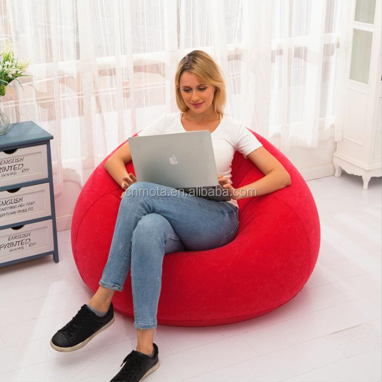 高品質インフレータブル豆袋の椅子寮の部屋エアソファブロー部屋ラウンジ