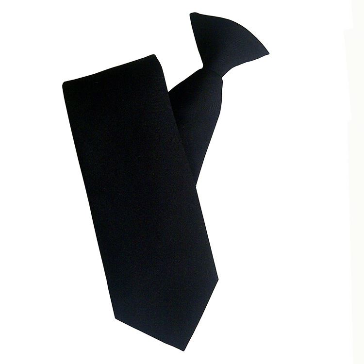men black security tie, clip on tie