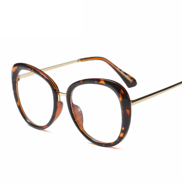 WOMEN 2020NEW Optical Black glasses Plain glass spectacles fashion Red Glasses Frame Clear Round