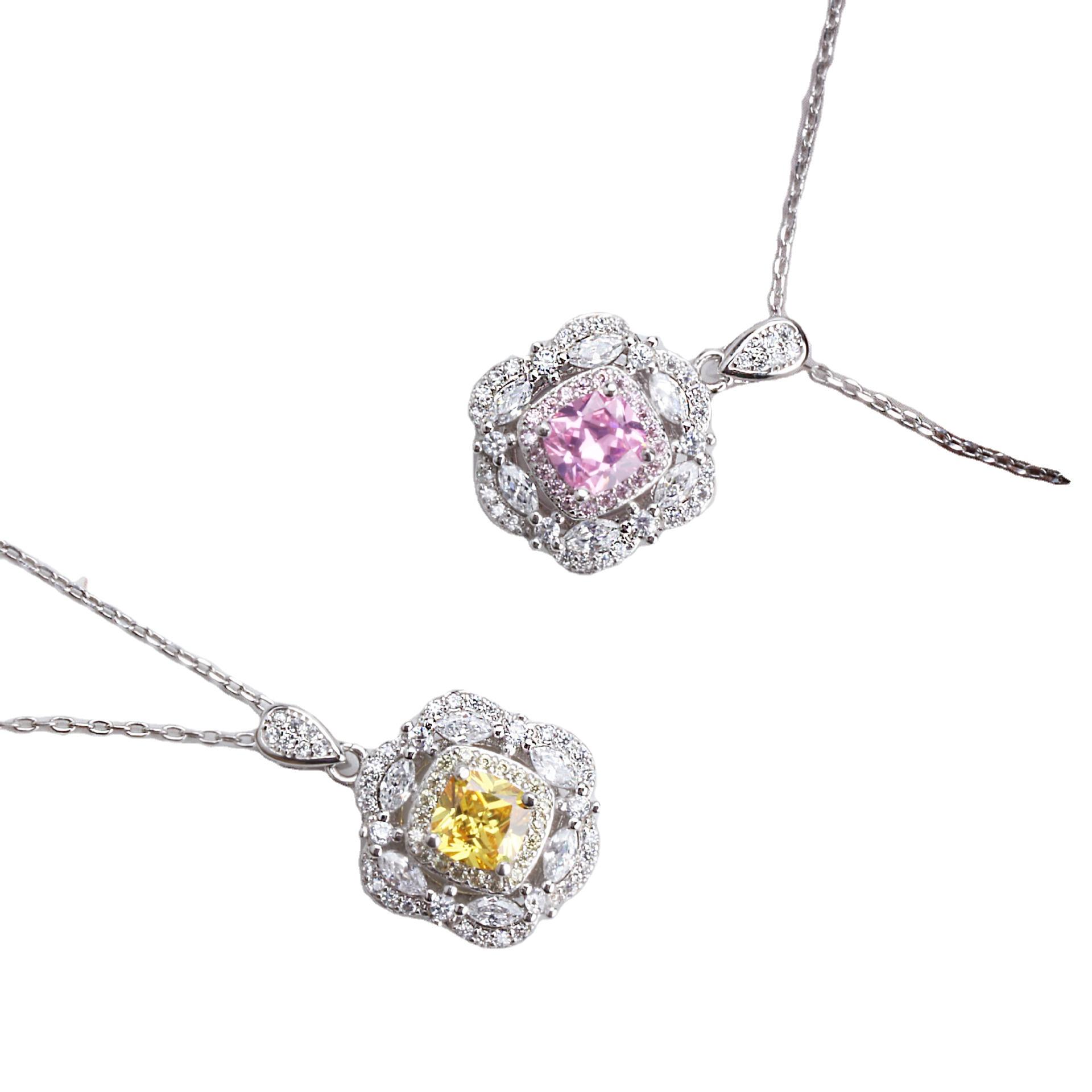 Silver Color Jewelry Necklace Diamond