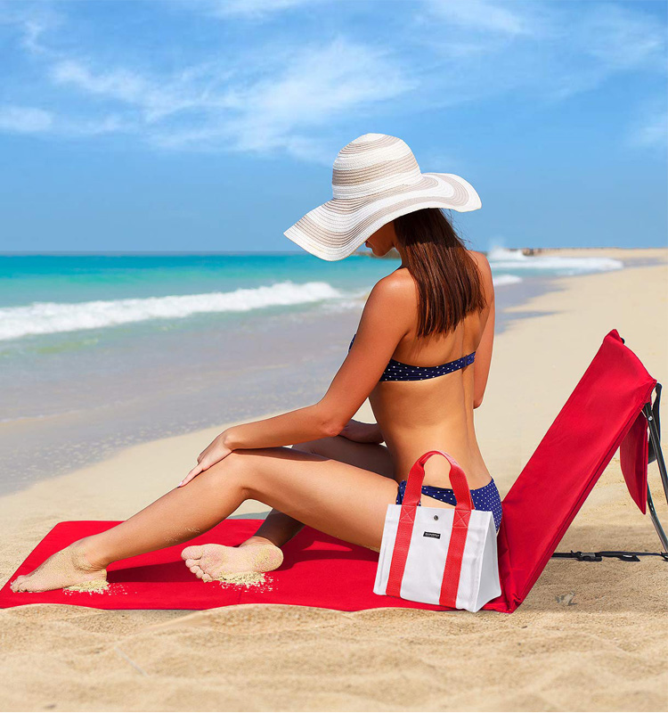 2020 Beach Mat With Backrest, Beach Mat Jiangsu Portable Folding Adjustable Beach Mat Lounger
