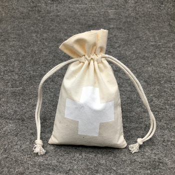 Cosmetic Makeup Mini White Cotton Packaging String Pouch