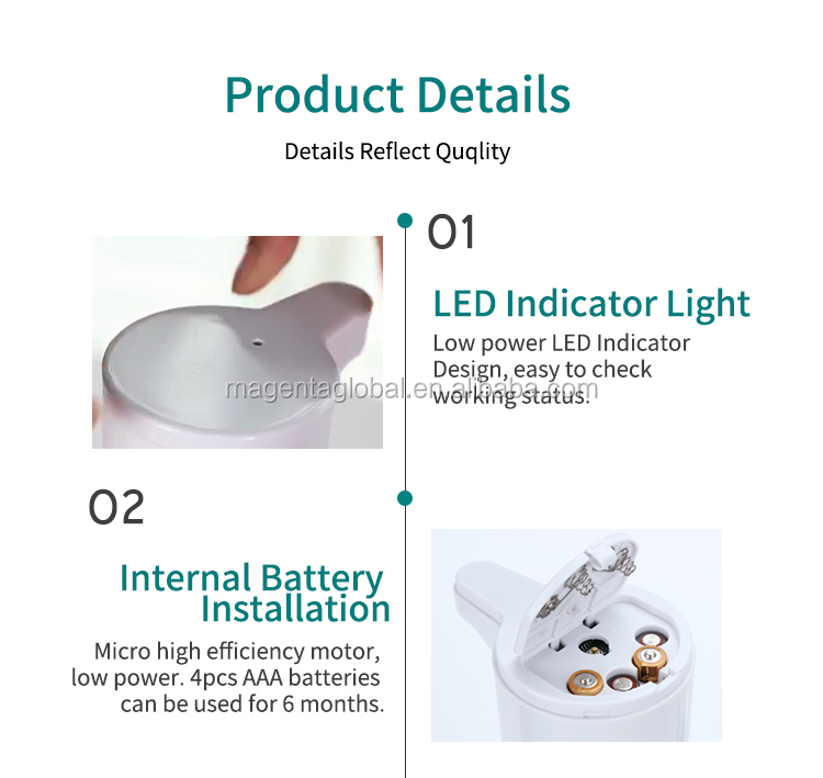 Eco friendly small 400ml smart sensor no-touch alcohol electronic automatic hand sanitizer spray foam soap liquid dispenser for