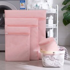 Manufactured Laundry Bag Laundry Bag Mesh Yiwu Shumi Manufactured Pink Polyester Fabric High Quality Delicate Laundry Mesh Wash Bag