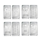 wholesale business gift customized fine .999 pure silver 1 troy ounce bar coin solid silver plated 1 oz souvenir bullion bars