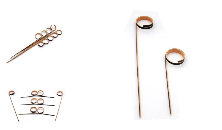 Beste kwaliteit natuurlijke Bamboe knoop vinger string/vinger cocktail picks