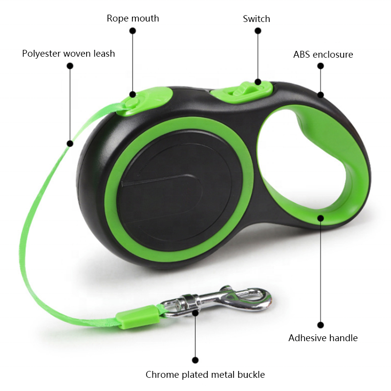 Hot sale automatic pet leash, cheap pet supplies innovative high quality pet collar leash 5 meter