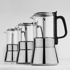 Coffee Maker Moka Tea And Coffee Maker Eco-Friendly Pyrex Glass Stocked Customizable Adequate Inventory Coffee Maker Tea Glass Mini Moka Coffeemaker