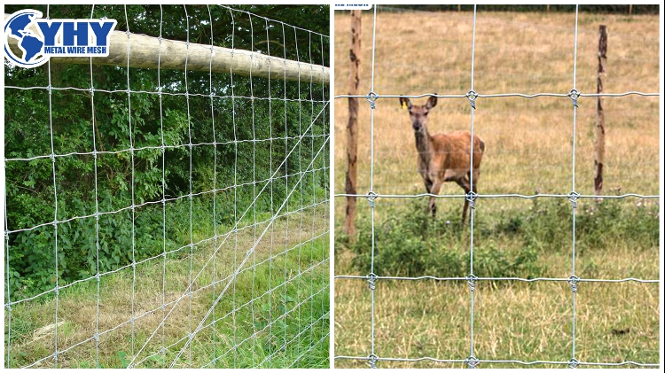 Farm guard Horse Fence with Fixed Knot 8ft x 330 ft Galvanized Steel Metallic