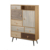Factory wholesale high quality wood & Iron legs Industrial multi drawer cabinet bookcase