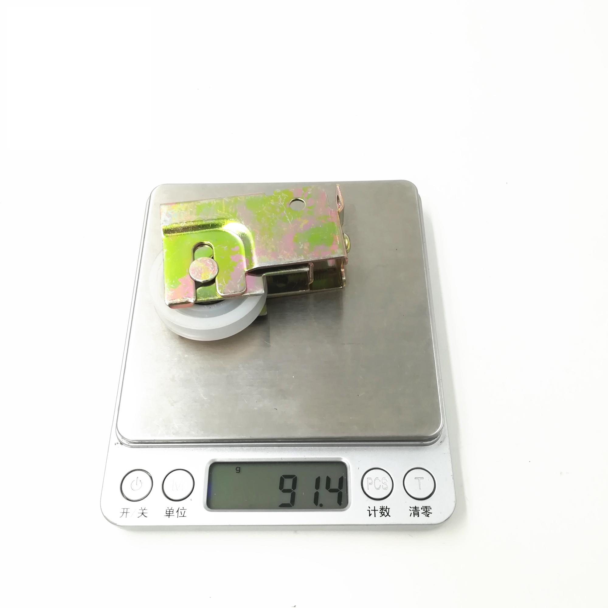 adjustable iron material nylon roller white zinc plating window roller wheel
