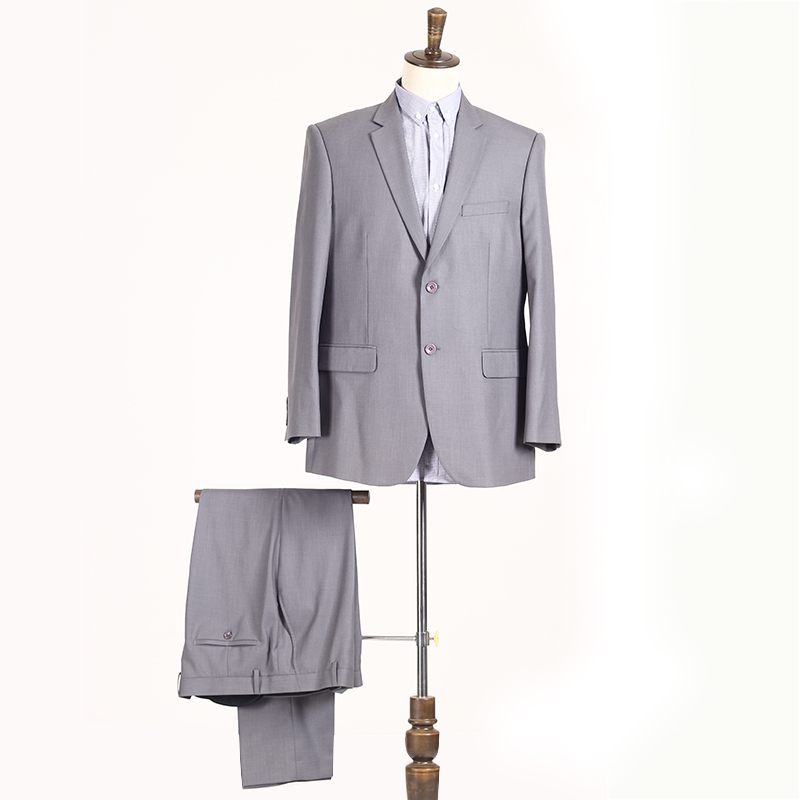 high quality silver in stock men business suit top and trousers sets