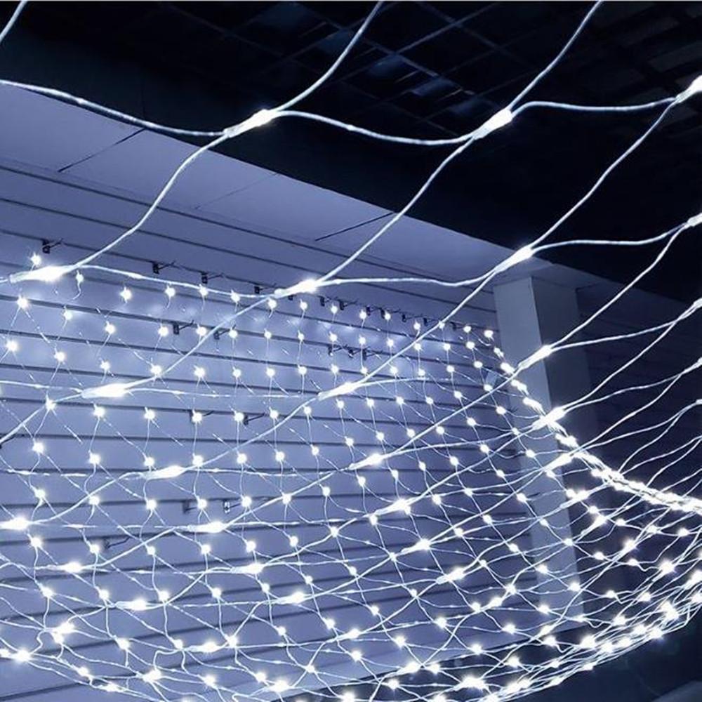 1.5MX1.5M 2x3M 4x6M Christmas Garlands LED String Christmas Net Lights Fairy Xmas Party Garden Wedding Decoration Curtain Lights