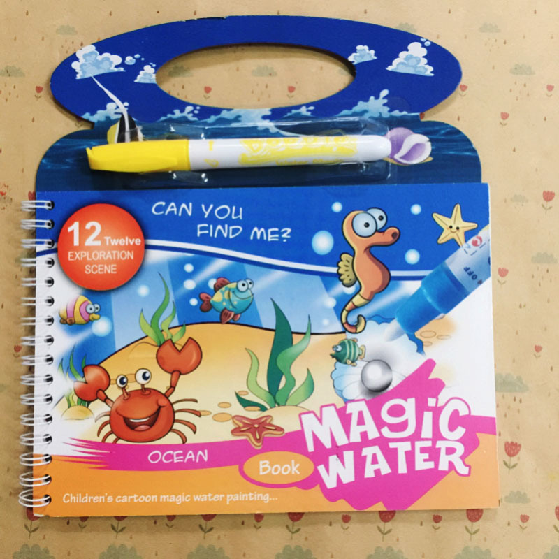 Magic Water Drawing Cloth Book Coloring Painting Writing Reusable Coloring Activity Book