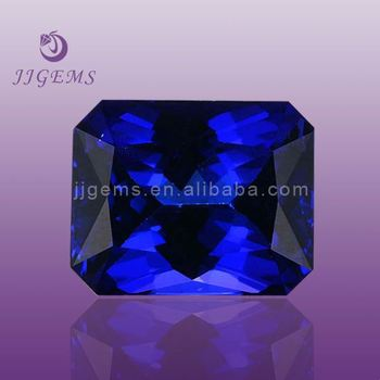 Lab created rough tanzanite