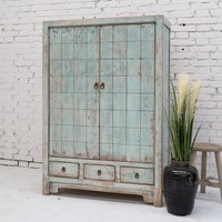 Home colorful storage cabinet antique rustic home furniture Living room shoe cabinet