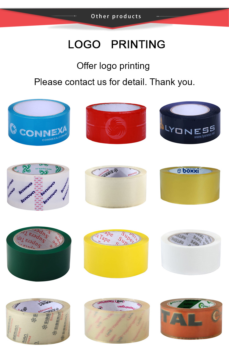 60mm x 100m x 48mic China supplier transparent water base adhesive boapp tape