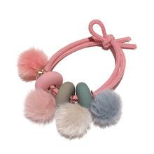 1 шт., красочные шарики из искусственного меха, веревка для волос, плюшевые резинки для волос, резинка для волос, эластичные резинки для волос...(Китай)