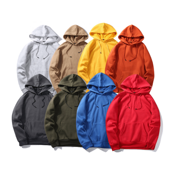 Custom Man Casual Fleece Lining Sweatshirt Pullover Hoodie Jacket