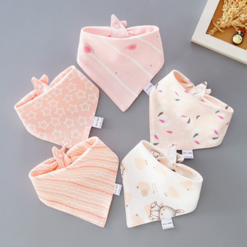customised hot sale high quality scarf baby triangle cotton drool bibs