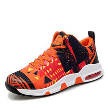 Мягкая и удобная Баскетбольная обувь с высоким берцем, легкие кроссовки с амортизирующей воздушной подушкой(Китай)