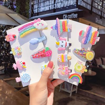 5Pcs/6Pcs Cute Girl Cloud Lollipop Rainbow Hairpins Cartoon Bobby Pin Hair Clips Girls Children Headband Kids Accessories