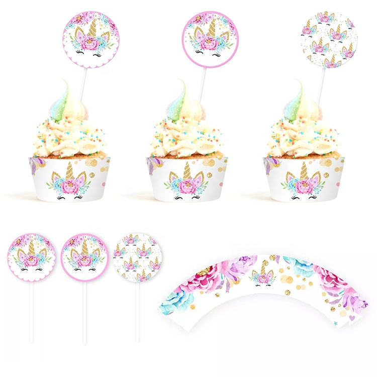 PARTYCOOL Kid Party Decor Favors Set Unicorn Birthday Decoration Party Supplies
